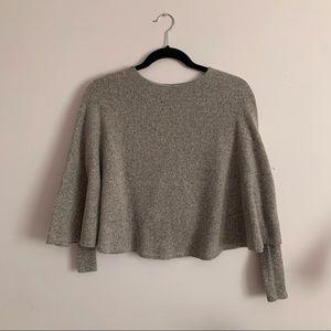 Zara Poncho Sweater - Pink Long sleeve